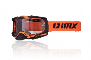 Gogle  IMX DUST GRAPHIC ORANGE/BLACK MATT (SZYBA DARK SMOKE + CLEAR)