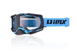 Gogle  IMX DUST GRAPHIC BLUE/BLACK MATT (SZYBA DARK SMOKE + CLEAR)