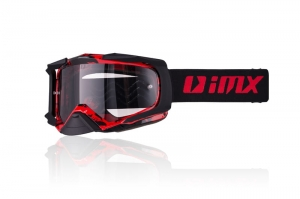 Gogle  IMX DUST GRAPHIC RED/BLACK MATT (SZYBA DARK SMOKE + CLEAR)
