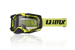 Gogle  IMX DUST GRAPHIC FLO YELLOW/BLACK MATT (SZYBA DARK SMOKE + CLEAR)